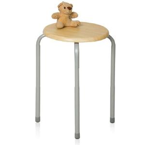 [当当自营]慧乐家 木面钢套椅22019 木纹色 优品优质
