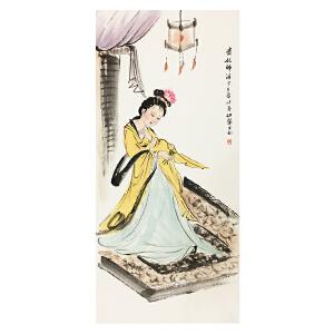 白伯骅《贵妃》中国著名画家