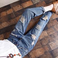 2017春夏秋季新款水洗无弹牛仔裤女 中腰宽松舒适小脚铅笔裤长裤YL706