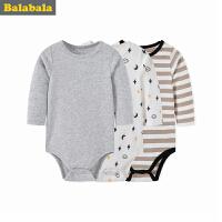 巴拉巴拉男婴儿连体衣儿童外出服婴童哈衣爬服秋季长袖