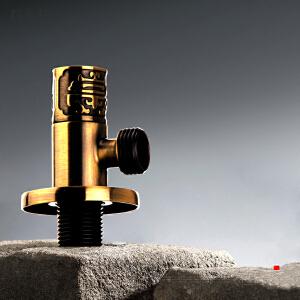 居逸古铜雕花角阀全铜八字阀冷热水通用止水阀三角阀GE5002013