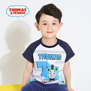 [满200减100]托马斯童装正版授权男童夏装时尚圆领纯棉印花短袖T恤打底衫