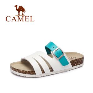 Camel/骆驼女鞋 2017新款夏季 舒适休闲女拖鞋 耐磨防滑沙滩拖鞋