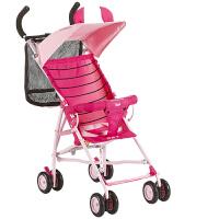 好孩子超轻便型婴儿手推车冬夏两用折叠便携伞车宝宝车童车D302/D303 粉红-J150B