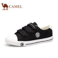骆驼牌 女鞋新款低帮帆布鞋女休闲魔术贴小白鞋韩版单鞋