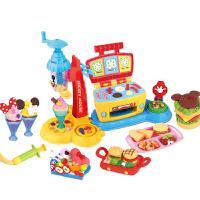 迪士尼Disney 儿童彩泥 奇妙美食套装 雪糕机模具套装小麦泥橡皮泥黏土米奇男孩玩具DS-1699