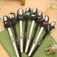 宫崎骏中性笔 可爱创意水笔 千与千寻卡通动漫无脸男