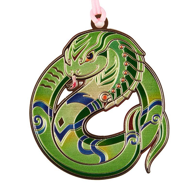 品轩阁 中国风系列金属创意书签-十二生肖疾迅蛇