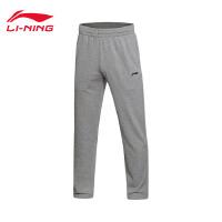 李宁卫裤2017新款男士平口长裤针织运动裤AKLM485