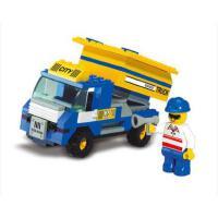 小鲁班拼装积木儿童智力拼插玩具垃圾运载车模型男孩6岁以上