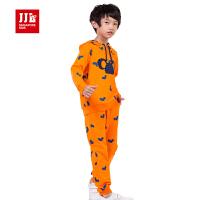 季季乐童装男童针织套装春秋季休闲运动纯棉两件套BCZ53095