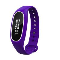 智能手环血压心率监测睡眠运动手表苹果安卓防水 白紫