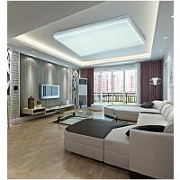 NVC 雷士照明LED吸顶灯 客厅灯长方形卧室灯 可调光时尚灯具