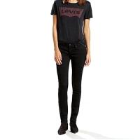 Levi's /李维斯牛仔裤女式时尚新款牛仔裤修身提臀牛仔裤黑色牛仔裤
