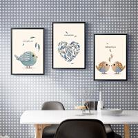 御目 壁画 北欧风格装饰画客厅卧室餐厅儿童房床头挂画现代简约创意壁画沙发玄关墙画三联画挂件饰品品
