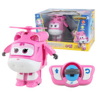 奥迪双钻超级飞侠遥控变形乐迪机器人会跳舞小爱变形儿童飞机玩具 遥控变形小爱