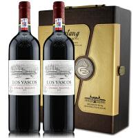 拉菲巴斯克珍酿干红葡萄酒 智利拉菲华诗歌原瓶进口红酒 750ml*2礼盒装