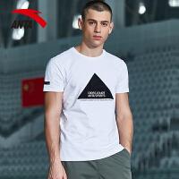 安踏男士运动T恤2017夏季新款针织透气舒适休闲跑步短袖15723148