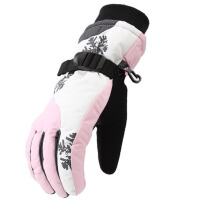 棉手套女冬季厚保暖户外滑雪手套男骑行摩托车电动车