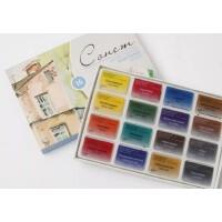 好吉森鹤/北京线上50元包邮//俄罗斯白夜Sonnet(学生级)固体水彩颜料 16色 纸盒套装 全块装绘画颜料固体颜料--------1盒16块+送品8855