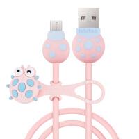 法芘兔 步步高 OPPO 小米 安卓数据线可爱甲壳虫手机USB充电线