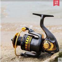 金属头10+1轴承纺车轮鱼线轮垂钓渔具 狼王天域TY4000渔轮