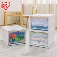 爱丽思IRIS 抽屉式收纳盒收纳整理箱透明塑料收纳柜内衣物储物柜