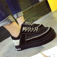 春季女鞋韩版运动鞋女百搭时尚休闲鞋子女式厚底单鞋