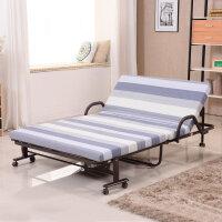 未蓝生活家用折叠床双人床午休午睡床保姆床 家用来客酒店临时加床  床垫宽1.2米厚8cm VLK120