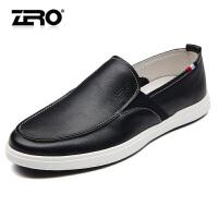 Zero零度板鞋 男士头层牛皮柔软舒适休闲皮鞋日常男鞋套脚驾车鞋R71050