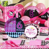 孩派 生日用品 派对用品套装 儿童生日用品 六岁女孩主题系列