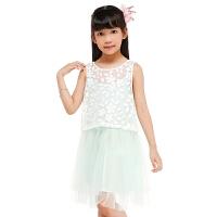 巴拉巴拉儿童短袖套装女夏中大童女童时尚两件款连衣裙