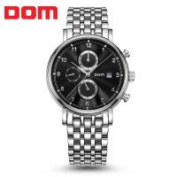 多姆(DOM)手表 运动休闲男表大表盘全自动机械表精钢表防水男士手表
