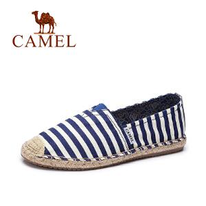 Camel/骆驼 女鞋夏季新款帆布鞋 休闲百搭平底鞋 学生韩版懒人单鞋