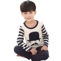 儿童家居服套装  卡通纯棉款  男女大童套装长袖秋衣套装