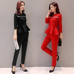 香衣宠儿 2017春季新款女装春季时尚套装/套裙 优雅韩版套装女 春季两件套女2365-16091