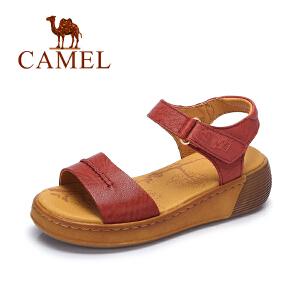 Camel/骆驼女鞋 2017春夏新款简约厚底女鞋舒适休闲凉鞋