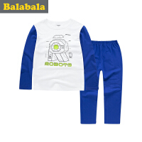 巴拉巴拉童装男童家居服套装中大童家居睡衣2017春新款儿童内衣男