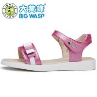 大黄蜂中大童女童凉鞋新款 夏季女孩公主鞋韩版 学生休闲鞋子