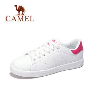 Camel/骆驼女鞋 运动板鞋 2017新春款休闲透气耐磨女士时尚小白鞋