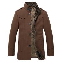伯思凯秋冬装新款毛呢大衣男外套 商务男士保暖中长款呢子外套男
