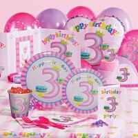 孩派 生日聚会用品 生日用品 儿童生日派对用品 三岁女孩主题系列