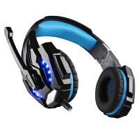 因卓 G9000游戏耳机头戴式 耳麦单孔USB音乐手机电脑通用 7.1声道