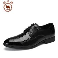 骆驼牌 休闲皮鞋 时尚商务尖头皮鞋舒适百搭低男士低帮鞋