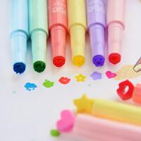 三年二班●韩国文具 可爱印章荧光笔 果冻创意糖果色记号笔彩色笔