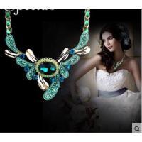 个性夸张复古高贵优雅锆石水晶时尚项链配饰短款锁骨链