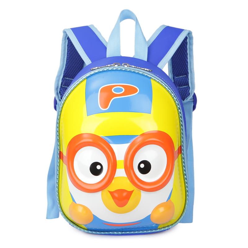 芭特莉【支持礼品卡支付】韩国卡通飞行员小鸟pororo 幼儿园硬壳书包