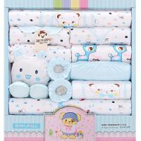 礼盒大全装 春夏新生儿衣服18件套 纯棉初生婴儿衣服 满月宝宝衣服 婴儿用品 四季小宝宝款