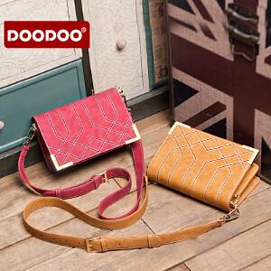 DOODOO 女包包2017新款韩版单肩包斜挎包菱格包时尚百搭女士小包潮 D6168 【支持礼品卡】