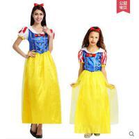 表演服装 演出服 万圣节服装 迪斯尼儿童白雪公主成人皇后长裙短袖款化妆舞会礼服